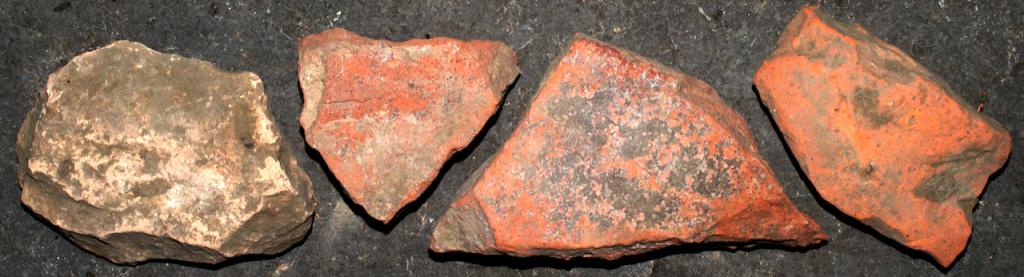 römische Ziegel-Bruchstücke Mutterstadt